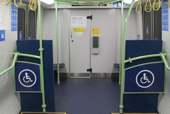 Expanded wheelchair area onboard X'Trapolis 253M