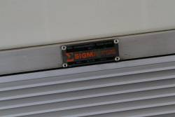 Sigma builders plate on a Comeng train air conditioning unit
