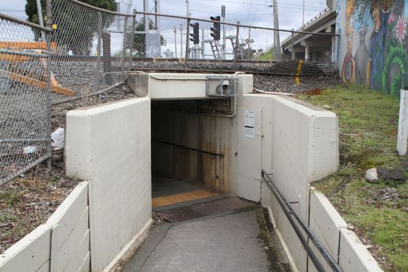 Pedestrian subway at Albion station