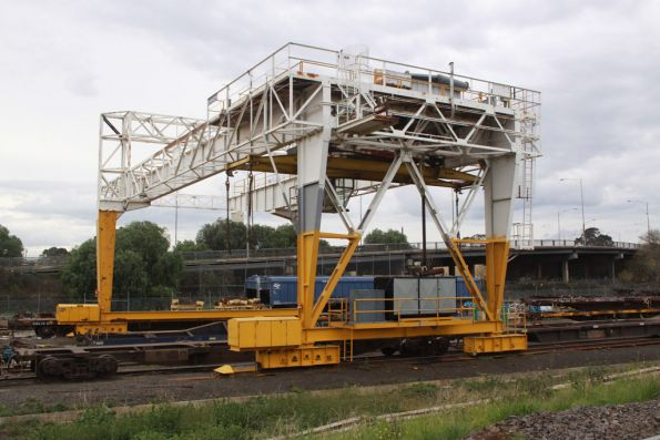 Gantry crane at the Creek Sidings, dating back to the TNT Contrans days