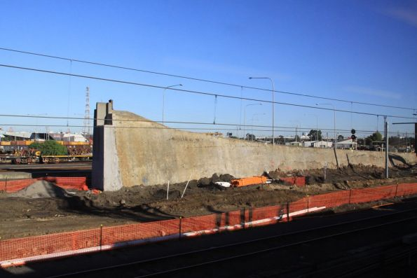 Only the north-western retaining wall remains
