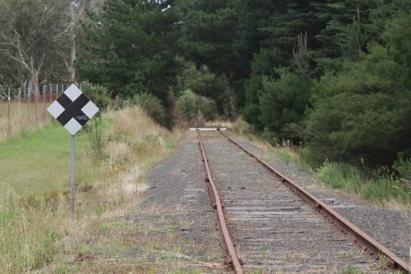 End of the line on the Cresco siding, just short of the Bayview Road level crossing