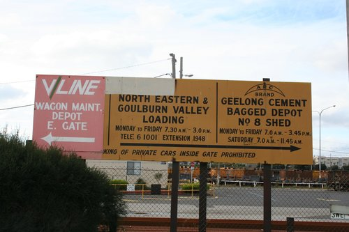 Sign outside the former South Yard, now the Melbourne Steel Terminal