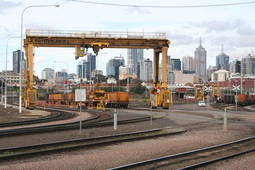 Western end of the Melbourne Steel Terminal