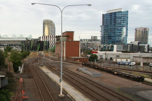 South end of the Melbourne Steel Terminal, with SG wagons to the right