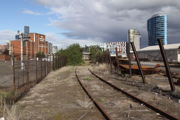 Former track connection from South Yard, looking towards Victoria Dock