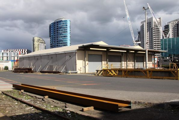 Steel Shed at the south end of the Melbourne Steel Terminal