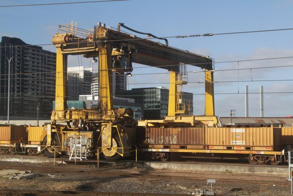 Mi-Jack crane at the eastern end of the Melbourne Steel Terminal