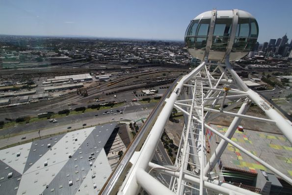 Looking down on the Melbourne Steel Terminal from the Melbourne Star observation wheel