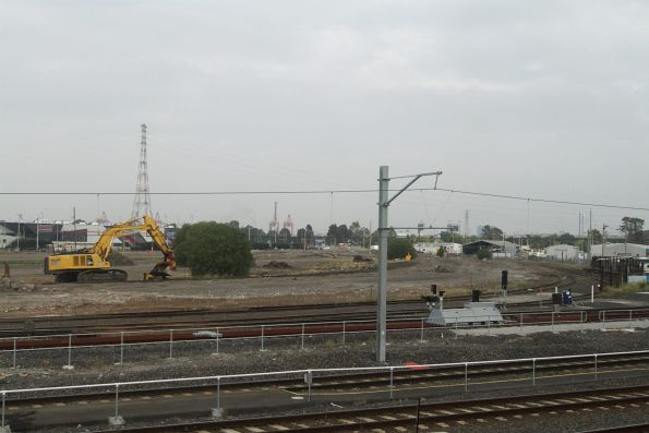 All tracks lifted at the Melbourne Steel Terminal