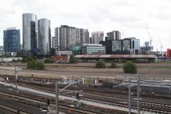 A few tracks still in place at the middle of the former Melbourne Steel Terminal