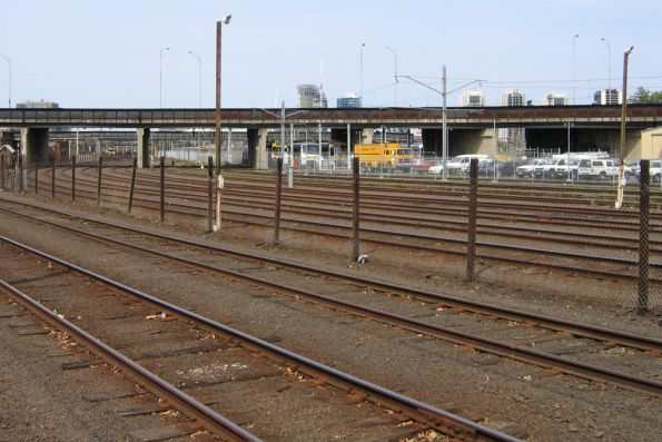 Middle section of the Melbourne Yard arrivals roads