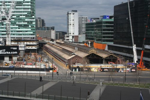 Northern end of No. 2 goods shed, being converted into offices