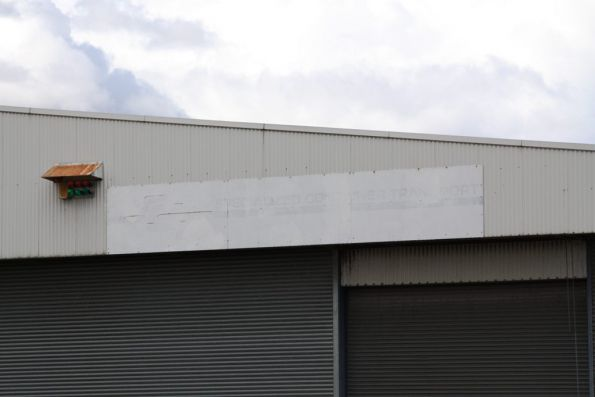 Painted over SCT Logistics signage on Fruit Shed 'F'