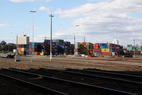 New container park at North Dynon, built on the site of the 'Fruit Loop' shed