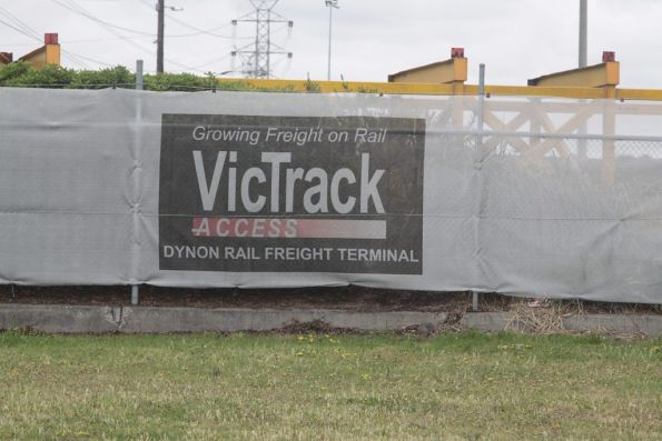 VicTrack banners around the edge of North Dynon