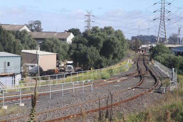 Dual gauge track from Spion Kop at the eastern end of North Dynon