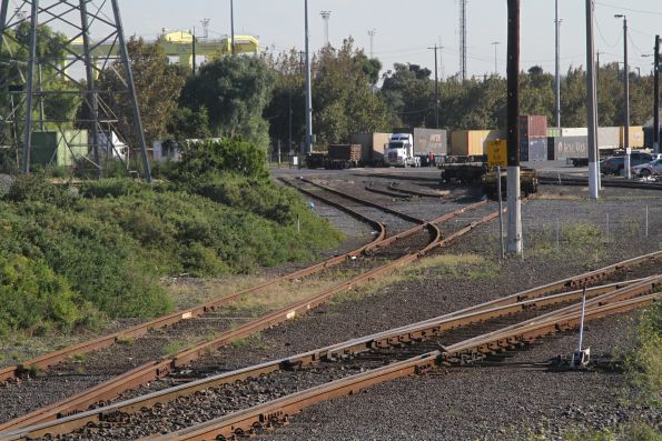 Eastern end of North Dynon, dual and standard gauges split apart