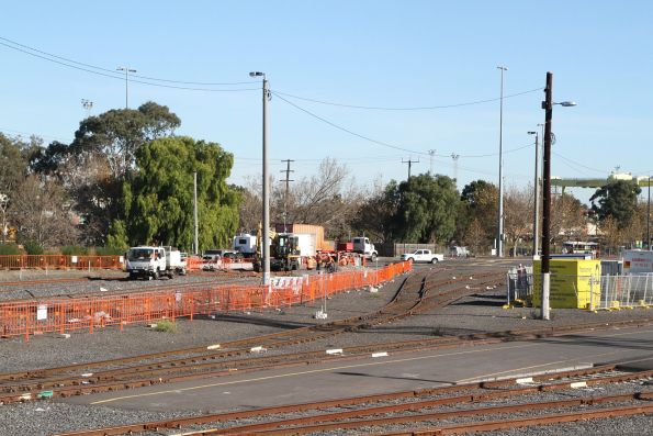 Track reconfiguration at the city end of North Dynon