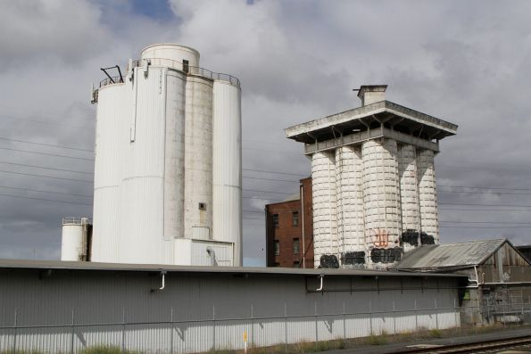 Grain silos at the Manildra warehouse