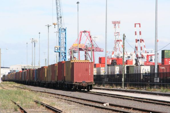 Containers flats in the common user sidings at Appleton Dock
