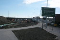 Work on the Dynon Port Rail Link, new bridge for westbound Footscray Road opened