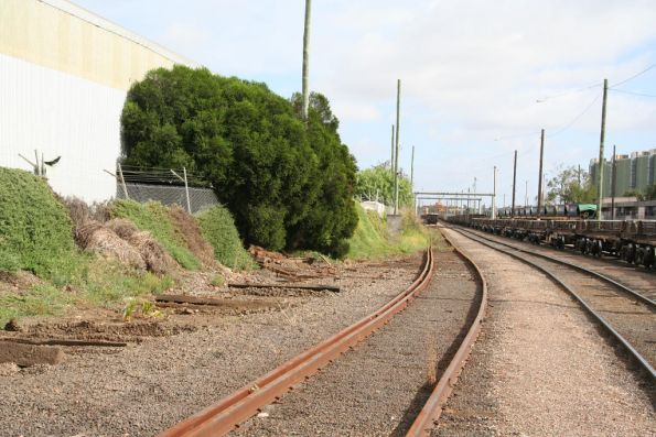 Removed track at South Dynon on the old route into the Port of Melbourne