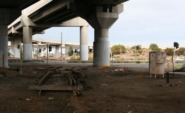 Removed track under CityLink on the old route into the Port of Melbourne