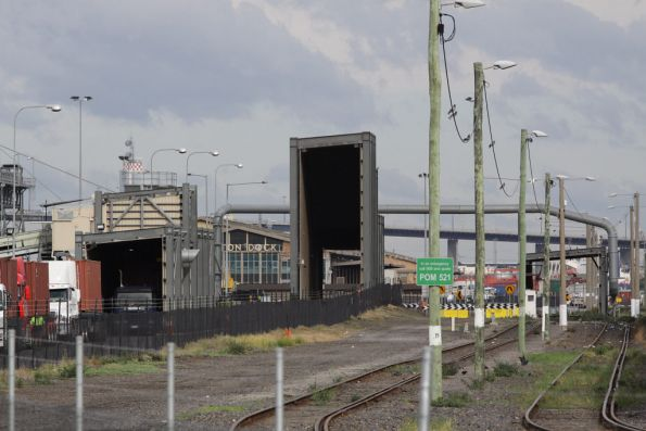 ABA terminal at Appleton Dock: L to R, truck loading shed (?), truck unloading shed, then rail unloading shed