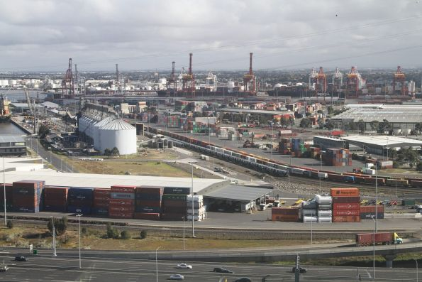 Looking over the railway yards at Appleton Dock
