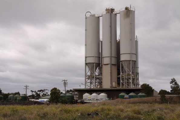 Northern side of the cement silos at Somerton