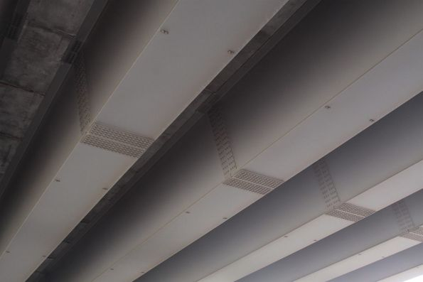 Underside of the Somerton Road bridge - steel spans bolted together