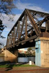 Bunbury Street bridge over the Maribyrnong river