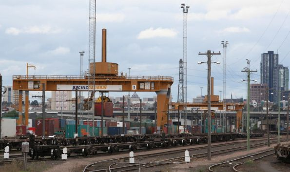 West end of PN's Melbourne Freight Terminal