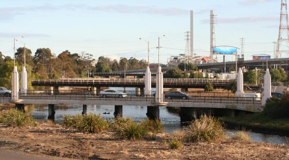 Rail bridges over Moonee Ponds Creek