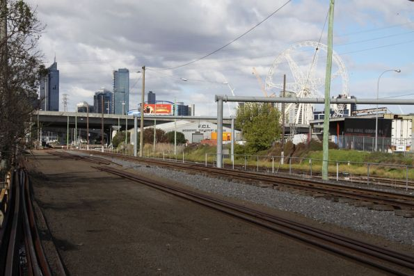 Shaws Siding being converted to SG, looking east towards the steel terminal