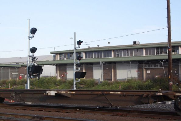Signals for trains approaching Appleton Dock from the Melbourne Operations Terminal