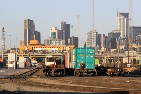 Looking west down the Melbourne Freight Terminal at South Dynon