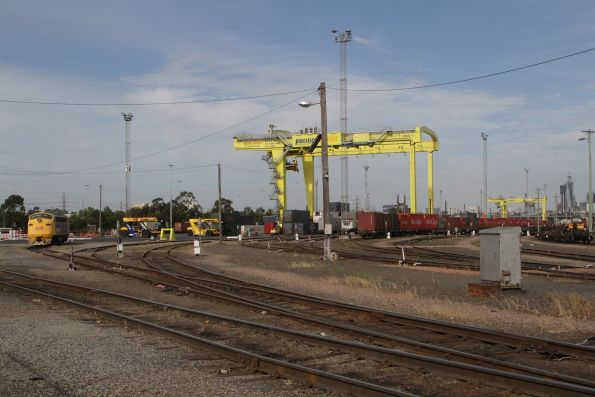 Pair of new rail mounted gantry cranes in place at the Pacific National Melbourne Freight Terminal