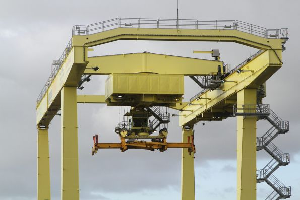 Lifting frame of the rail mounted gantry crane