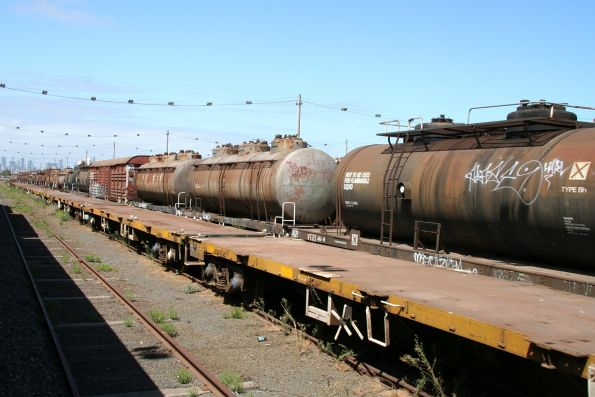 More stored tank and container wagons