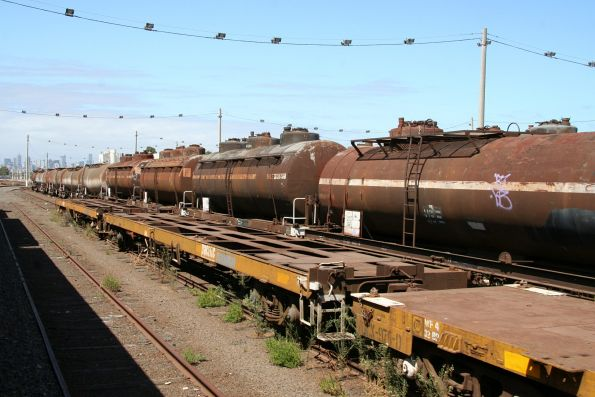 Even more stored tank and container wagons