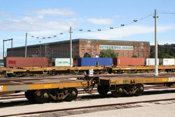Container wagons in the lower end of the yard