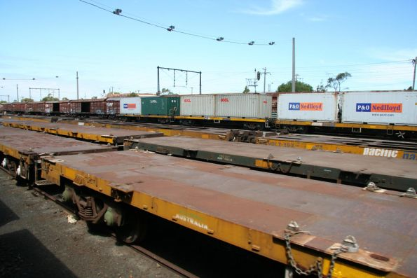 Stored flat wagons and I guess the Tocumwal or Mildura freight