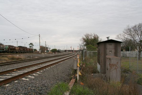Up end of Tottenham Loop from the north side of the yard
