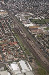 A wider view, with Tottenham Station at the bottom right and West Footscray at the top left