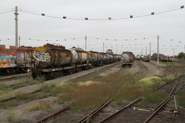 Pacific National wagons abandoned in the north end of the 2nd classification tracks