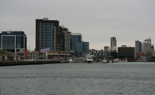 NewQuay on the north side of the harbour, La Trobe Street bridge to the extreme right