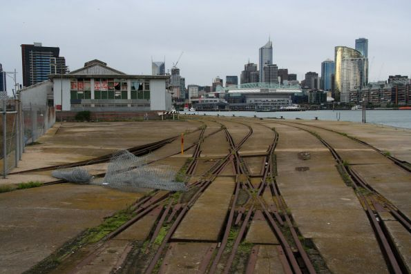 Another view of the double compound trackwork at the western end of the wharf