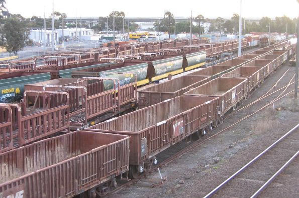 Stored way and works vehicles in the Wagon Storage Yard